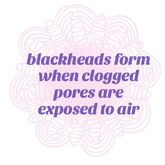 blackheads form when clogged pores are expose to air